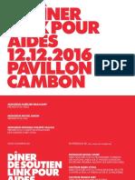 Le dîner LINK pour AIDES 12.12.16