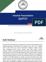 Investor Presentation Q1 FY17