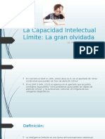 La Capacidad Intelectual Límite