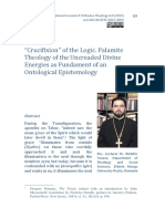 'Crucifixion' of the Logic. Palamite Theology of the Uncreaded Divine Energies as Fundament of an Ontological Epistemology.pdf