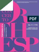 Programa de Sala | Concertos Orthesp | Aberturas de Óperas Famosas