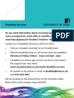 Disability Services A5 Flier