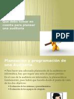 Auditoria Plan