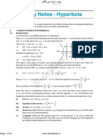 Maths Hyperbola Notes Theory