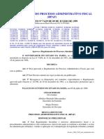 RPAF - REGULAMENTO DO PROCESSO ADMINISTRATIVO FISCAL DO ESTADO DA BAHIA