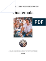 Peace Corps Guatemala Welcome Book  |  June 2009