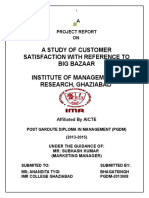A Study of Customer Satisfaction With Reference to Big Bazaar