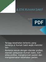 HUKUM & ETIK RUMAH SAKIT.ppt