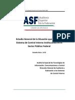 1172 Estudio General de La Situacion Que Guarda El Sistema de Control Interno Institucional en El Sector Publico Federal