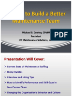 10 Tips to Build Better Maintenance Team