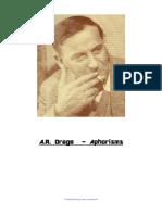 A.R. Orage -  Aphorisms