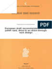 European Draft Recommendation for Racking