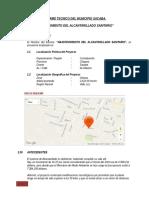 Informe Tecnico Municipio Sacaba