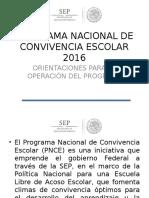 Presentación Del PNCE 2016