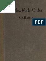 New World Order 1919 by Samuel Zane Batten