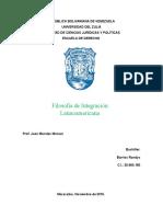 Filosofía de Integración Latinoamericana