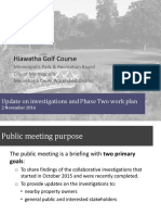 Hiawatha Golf Course Commissioner Update Presentation 20161102