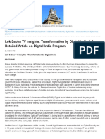 Lok Sabha TV Insights_ Transformation by Digital India & a Detailed Article on Digital India Program _ INSIGHTS