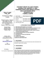 CGVC Jan 10 Agenda