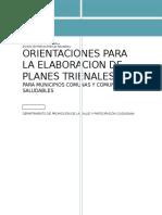 Orientaciones Tecnicas Para La Elaboracion de Planes Trienales 2016-2018...