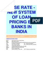 Base Rate-New System of Loan Pricing by Banks in India-VRK100-13062010