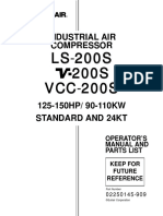 Sullair LS,V,VCC-200S Manual 02250145-909