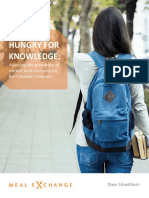 Meal Exchange - Report - Hungry for Knowledge - Assessing the prevalence of student food insecurity on five Canadian campuses