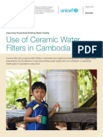 Use or Ceramic Water Filters in Cambodia