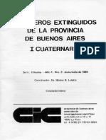 Mamiferos Extinguidos de La Prov de Bs. as.-cuaternario
