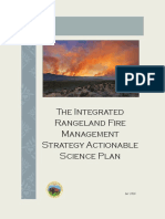 Integrated Rangeland Fire Manaagement Strategy Actionable Science Plan
