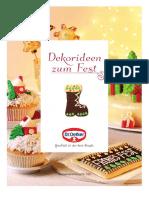 Dr Oetker Dekorideen Zum Fest - Weihnachten