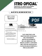 Ley Organica Del Fenomeno Socioeconomico de Las Drogas