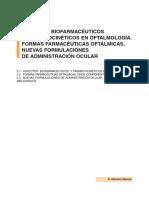 Cap 02 Aspectos Biofarmaceuticos y Farmacocineticos en Oftalmologia Formas Farmaceuticas Oftalmicas Nuevas Formulaciones de Administracion Ocular