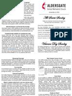 Bulletin Supplement November 6 2016