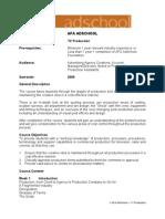 TV Production Course Outline Inc Assessments (2)