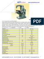Milling Machine Specifications