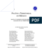 DESARROLLO TERRITORIAL EN MÉXICO- UN BALANCE GENERAL