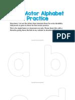 Fine Motor Alphabet Practice