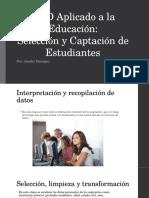 KDD Aplicado a La Educación