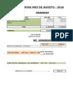 Liquidacion Igv Renta Agosto 2016