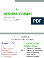 Maymester 2017 - EALC Business Japanese