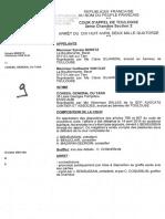 Décisions de la Cour d'appel de Toulouse  sur la requête d'expulsion de Sivens