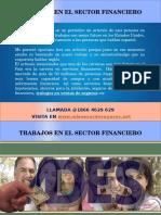 Trabajos en El Sector Financiero