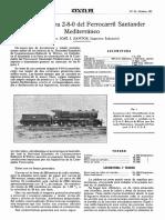 1927-10-010 La Locomotora 2-8-0 Del Ferrocarril Santander Mediterraneo