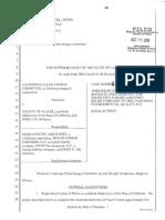 CCEC v. Placer Co. Writ of Mandate (10/26/16)