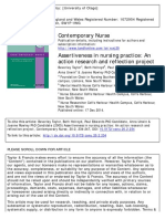 Contemporary Nurse Volume 20 Issue 2 2005 [Doi 10.5172_conu.20.2.234] Taylor, Beverley; Holroyd, Beth; Edwards, Paul; Unwin, Anna; Row -- Assertiveness in Nursing Practice- An Action Research and Re