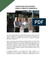 03-11-16 Fundacion Cano Velez entrega computadoras