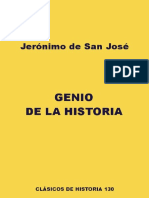 San José, J., Genio de La Historia