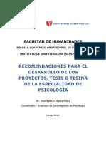 Recomendaciones Para El Desarrollo de Pi y Dpi- 2016-II