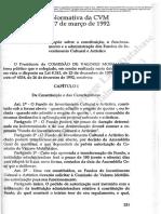 Instrução Normativa da CVM n° 186, de 17 de março de 1992